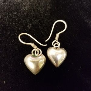 Jewelry - BIG SALE! Sterling silver heart shaped earrings.